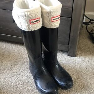 High top hunter boots with socks!